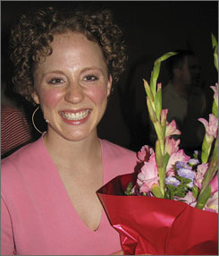 Katherine Ann Olson, shown here after a theater performance, was allegedly killed by a person she met after answering an ad on Craigslist.org.