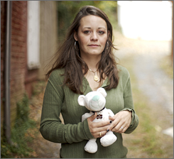 Mary Johnson kept a toy that belonged to Mooch, her puppy mill pet that had to be euthanized.