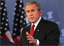 "Denial that ""we are at war"" is dangerous, President Bush said Thursday."