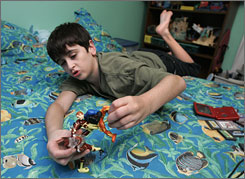 Ryan Massey, 11, was diagnosed with Asperger's syndrome Ryan, after he was slow to develop speaking ability. He still has uncontrollable tantrums and must attend an Asperger's-only sixth-grade classroom that teaches social skills along with traditional subjects.