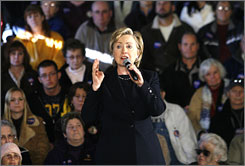 84% of Republicans polled say they would not vote for Hillary Clinton for president in 2008.
