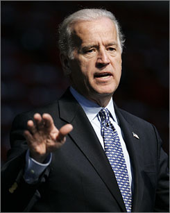 Democratic presidential hopeful Sen. Joseph Biden, D-Del., sees similarities between the current turmoil in Pakistan and the unrest in Iran in the 1970s.
