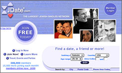 JDate, a Jewish dating website, charges $149 for six months, but for one New Jersey congregation it's free, thanks to Rabbi Donald Weber.