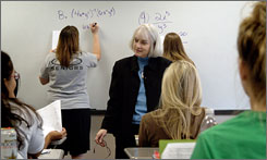 """If I were to tell you, 'I can't read,' or 'I can?t write,' are you going to be laughing? Why is it socially acceptable to say, 'I can't do math'?"" asks Rosemary Karr, math professor at Collin County Community College in Plano, Texas."