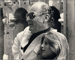 Film editor Peter Zinner is seen with his daughter, Katina, in Rome in the early 1970s.
