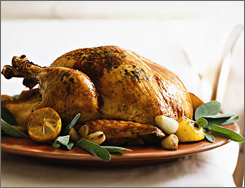Cooking Light magazine featured the Parmesean-Sage Roast Turkey with Sage Gravy.