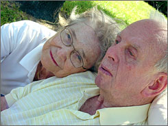 Gertrude McNally, whose husband, Richard, has Alzheimer's, took his new relationship in stride.