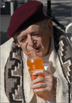 Earlier this month, Gatorade inventor Dr. Robert Cade posed with his favorite flavor of the sports drink during a dedication of a historic marker recognizing the birthplace of Gatorade at the University of Florida.