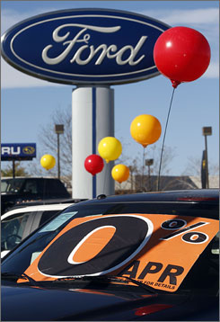A Ford dealership in Centennial, Colo., outside Denver, depends on the gas to help sell cars.