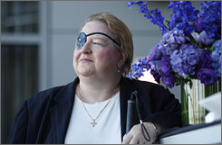 Carol Weihrer, president and founder of the Anesthesia Awareness Campaign, woke up while doctors were removing her right eye.
