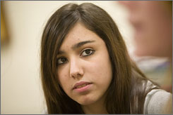 Tenth grader Caitlin Gomez is a student in the new homeland security program at Joppatowne High School in Joppa, Md. 