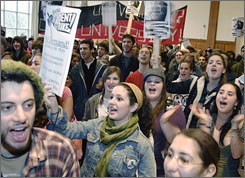 University of Massachusetts students rallied and refused to attend class to demand fee rollbacks, more diversity, student control of student space and an end to police patrols in dorms. Though legally adults, many people ages 18 to 25 agree with their parents that they have some growing up to do.
