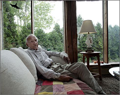Historian James MacGregor Burns, seen here at his home in Williamstown, Mass., had his first book was published in 1949.