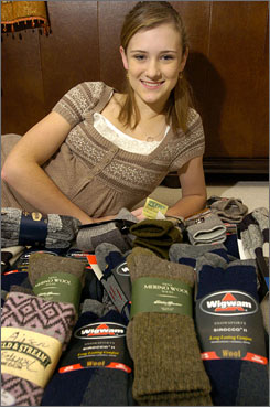 Seventh grader Alison Mansfield, from Fort Wayne, Ind., heard that U.S. troops in the mountains of Afghanistan were short on socks. She started collecting them after Veteran's Day and has nearly 4,000 pairs of socks and more than $4,000 to send troops this holiday.