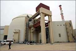 The reactor building of the Bushehr Nuclear Power Plant, located some 750 miles south of the capital Tehran, Iran, received its second shipment of nuclear fuel from Russia, Friday.