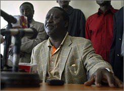 Opposition candidate Raila Odinga, a fiery 62-year-old former political prisoner, ran on a platform thaat promised change and help for the poor.