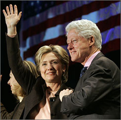 Not only does Sen. Hillary Clinton have to carefully navigate the change factor as she deploys her husband on the campaign trail, she must deal with the charisma factor as well.