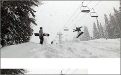 Snowboarders in December at Ski Santa Fe. Two snowboarders went missing for three nights after snowboarding out of bounds at the ski area.