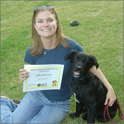 Meredith Emerson, seen here in May 2007 in Flowery Branch, Ga., with her dog, Ella.