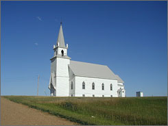 Vang Lutheran Church, Dunn County, N.D. Seven percent of U.S. adults raised Protestant are now unaffiliated, while 15% have switched to a different Protestant faith.