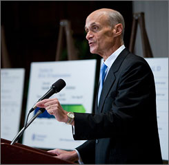 """This kind of identification gives us a tremendous tool in preventing dangerous people from getting on airplanes or getting into federal buildings,"" Chertoff said."