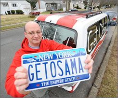 Arno Herwerth, 42, of Hauppauge, N.Y., has filed a federal complaint against the New York State Department of Motor Vehicles, which wants him to return his vanity plates.