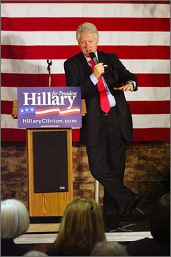 """""""As far as I can tell, neither Senator Obama nor Hillary have lost votes because of their race or gender,"""" said former President Bill Clinton, while campaigning for wife Hillary, in Charleston, S.C., Wednesday.  The South Carolina democratic primary is this Saturday."""