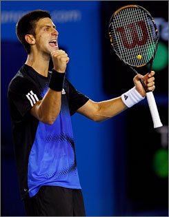 Third-ranked Novak Djokovic finally broke through to win his first Grand Slam title.