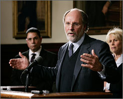 New Jersey Gov. Jon S. Corzine recently proposed an increase in highway tolls to cut state debt and fund transportation.