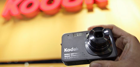 Eastman Kodak Co.'s V1273 camera, scheduled for release this spring,  was on display earlier this month at the Kodak booth at the Consumer Electronics Show, in Las Vegas.