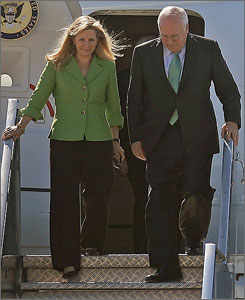 Liz Cheney accompanied her father during a Middle East tour last spring.