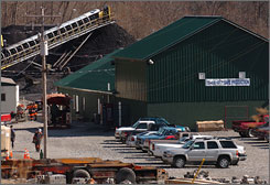 The Sago Mine in Tallmansville, W. Va., where 12 miners died in an explosion in January 2006.