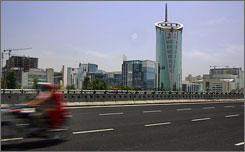 The posh New Delhi, India, suburb of Gurgaon, where police believe an alleged kidney transplant racket was based.