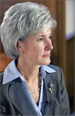 Kansas Gov. Kathleen Sebelius delivered the Democrat response to the State of the Union from Topeka, Kan. Her name has been floated as a possible vice-presidential pick.