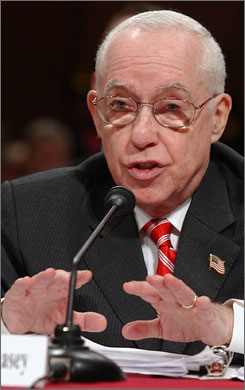"Mukasey testifies on Capitol Hill on Wednesday. He said that since waterboarding is not part of the CIA's current interrogation program, and may never be added to the program, ""I do not think it would be appropriate for me to pass definitive judgment on the technique's legality."""