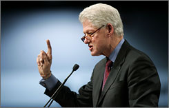 A decades-long breach with more conservative Southern Baptists would not be easily healed, former president Bill Clinton said.