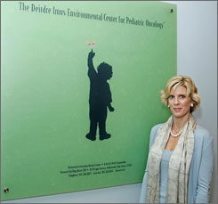 Deirdre Imus, wife of shock jock Don Imus, at the Deirdre Imus Environmental Center for Pediatric Oncology in the Deirdre Imus Environmental Center Research Building in Hackensack, N.J., in December.