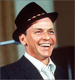 If you have blue eyes, you may be distantly related to the late crooner Frank Sinatra, famously known as Ol' Blue Eyes.