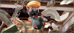 """This photo provided by Disney shows the character Remy, voiced by Patton Oswalt, in """"Ratatouille."""" The Pixar film landed five Oscar nominations and was ranked by many critics as one of the year's best."""