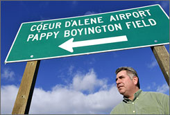 Kevin Gonzalez, of Coeur d'Alene, Idaho, was a leader in the effort to rename the local airport after World War ll flying ace Gregory Boyington. He recently produced a documentary on the lengthy process that will be shown at film festivals around the country.