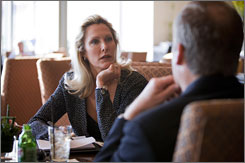 Matchmaker Christie Nightingale meets a client who wished to remain unidentified at the Mandarin Oriental Hotel in Washington, D.C.