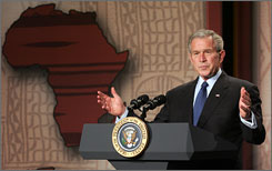 Bush comments on U.S. policy in Africa on Thursday at the Smithsonian National Museum of African Art in Washington