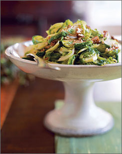 Brussels sprouts with pecans: Read the recipe below to learn how to make this dish.
