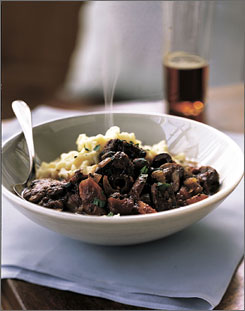 This Mediterranean-inspired beef stew from Menu 1 below is great matched with mashed potatoes.