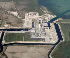 Two nuclear generators at the Turkey Point plant south of Miami shut down on Monday, causing widespread power outages in Florida.