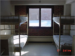 A four-bunk cell at the Federal Correctional Institution in Waseca, Minn., a low-security prison.