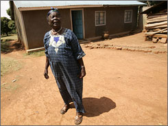 """Untruths are told that don't have anything to do with what Barack is about,"" says Sarah Hussein Obama, grandmother of the U.S. Democratic presidential hopeful. Here she stands outside of her house in the village of Kogelo, western Kenya."