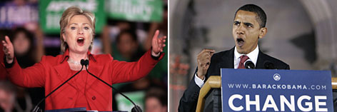 Rival Democratic Sens. Hillary Rodham Clinton and Barack Obama risk alienating super delegates if attacks on each other get too sharp.