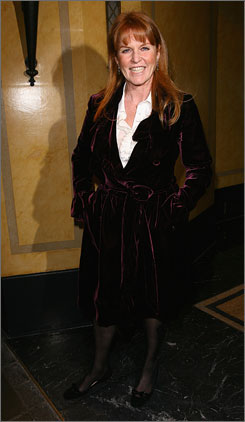 Sarah Ferguson, Duchess of York, arrives at the Chain of Hope Annual Ball at London's Dorchester Hotel on Feb. 4. She's been a spokesperson for Weight Watchers for 11 years.