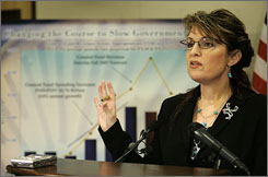Alaska Gov. Sarah Palin's state may lead the country in per-capita pork barrel spending but she has said her administration plans to ask the state's congressional delegation for far fewer earmarks, compared to previous years.